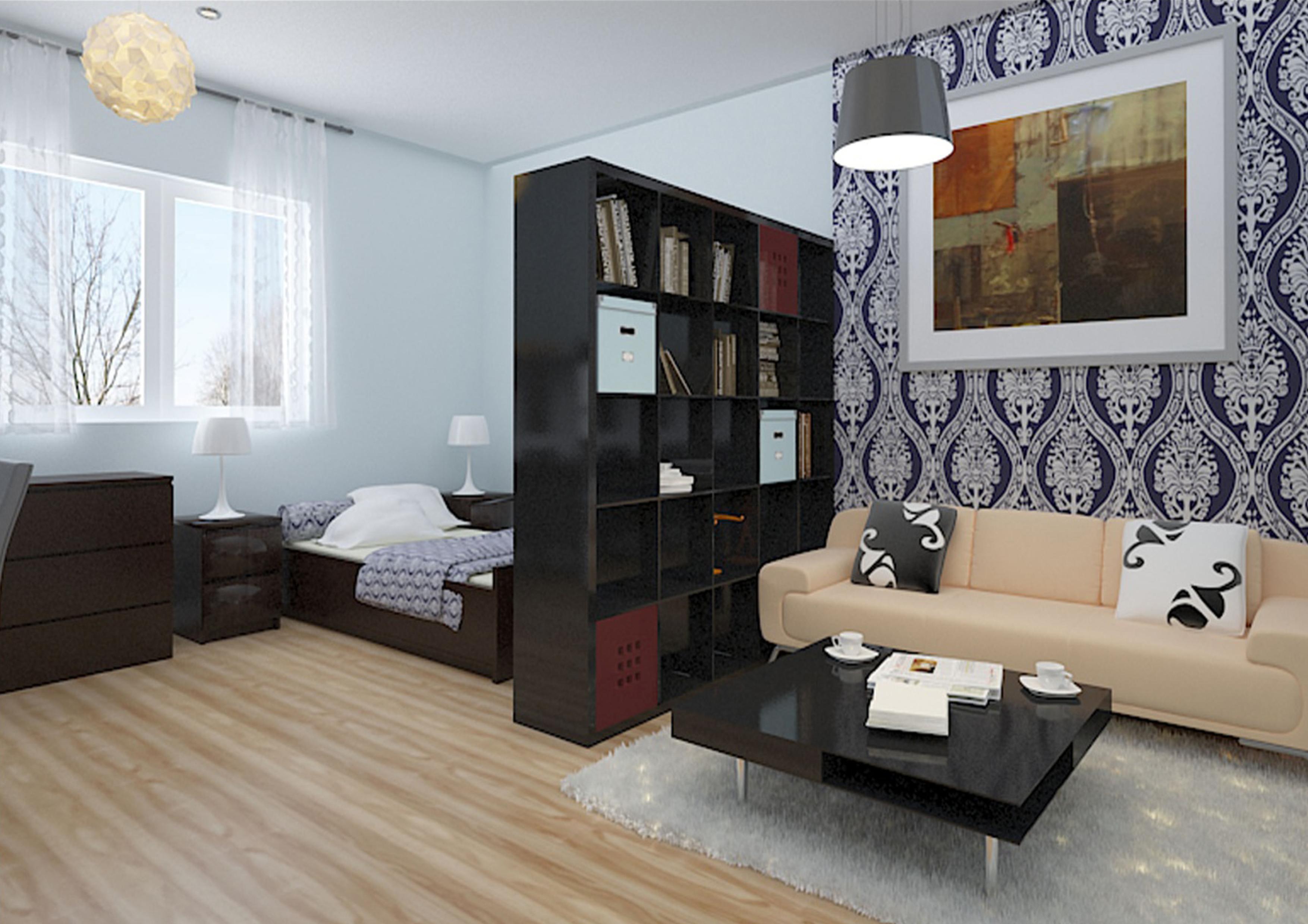 Дизайн квартиры-студии 35 кв.м фото