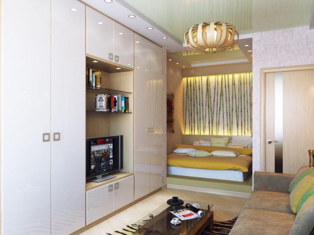 Дизайн однокомнатной квартиры 40 кв.м с нишей