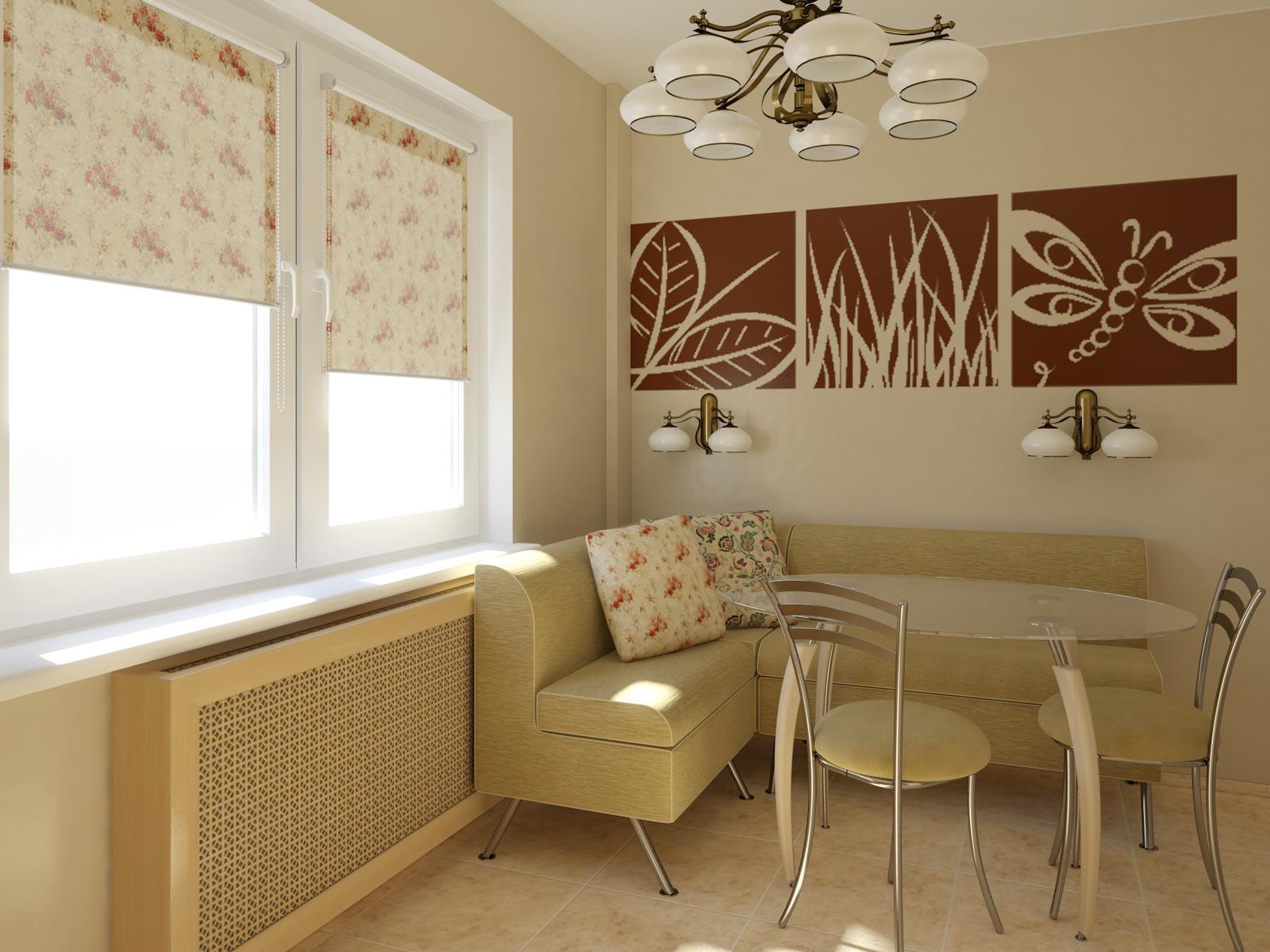 Дизайн кухни 11 кв.м с диваном фото