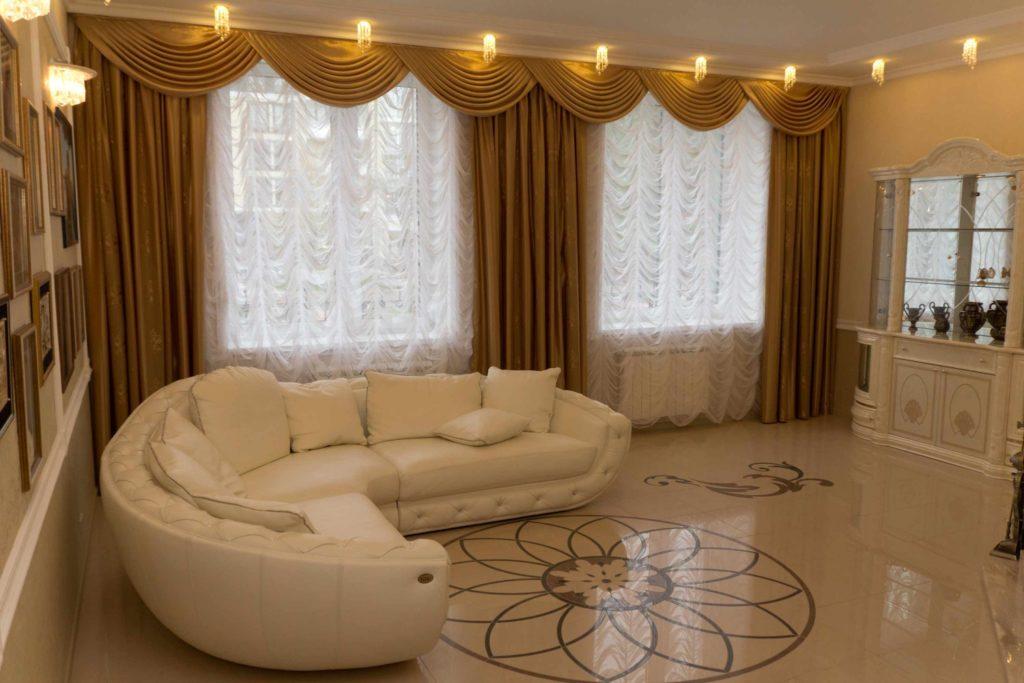 Дизайн штор для зала и кухни