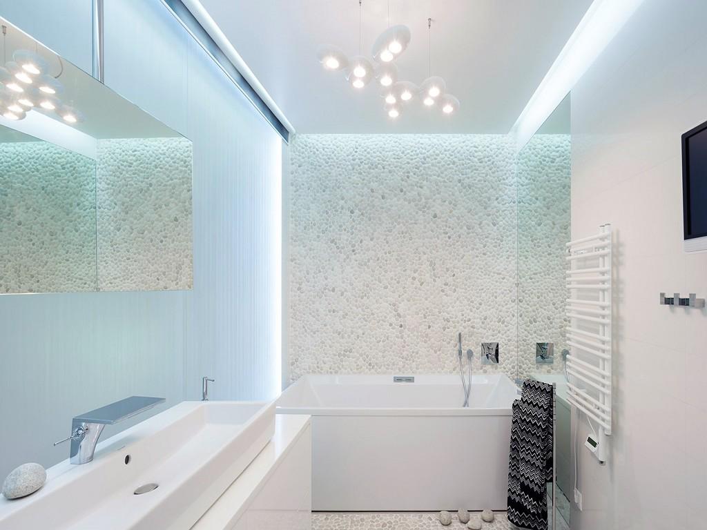 Светлые тона в ванной комнате