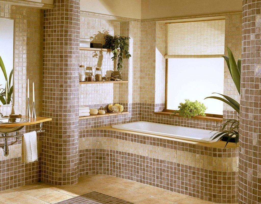 Дизайн ванной комнаты мозаичной плиткой дизайн