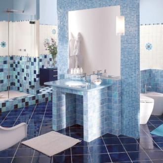 Мозаика в ванной комнате — неоспоримая красота (35 фото мозаики в интерьере ванной)