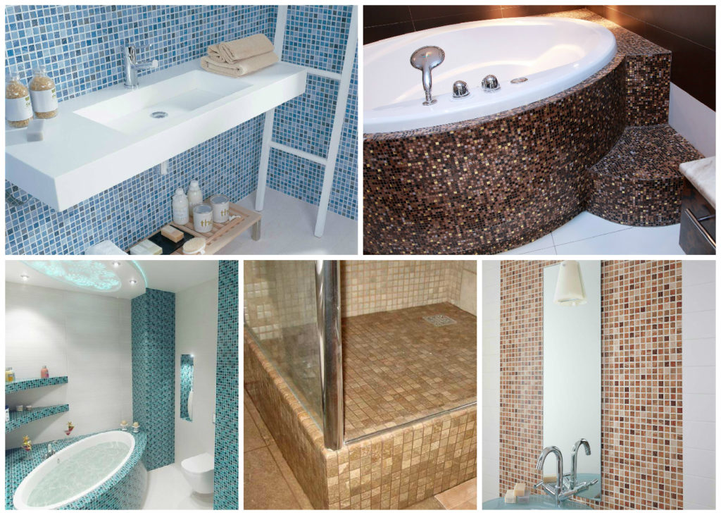 Мозаика своими руками в ванной комнате фото в 35