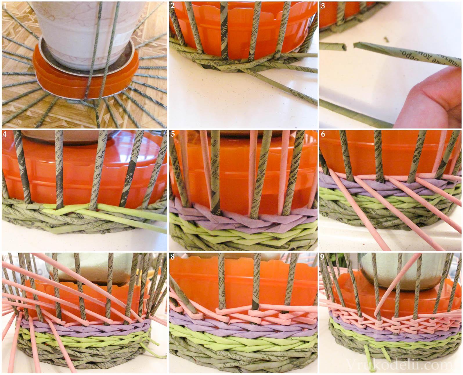 Плетение из газетных трубочек для начинающих - пошаговый мастер-класс 39