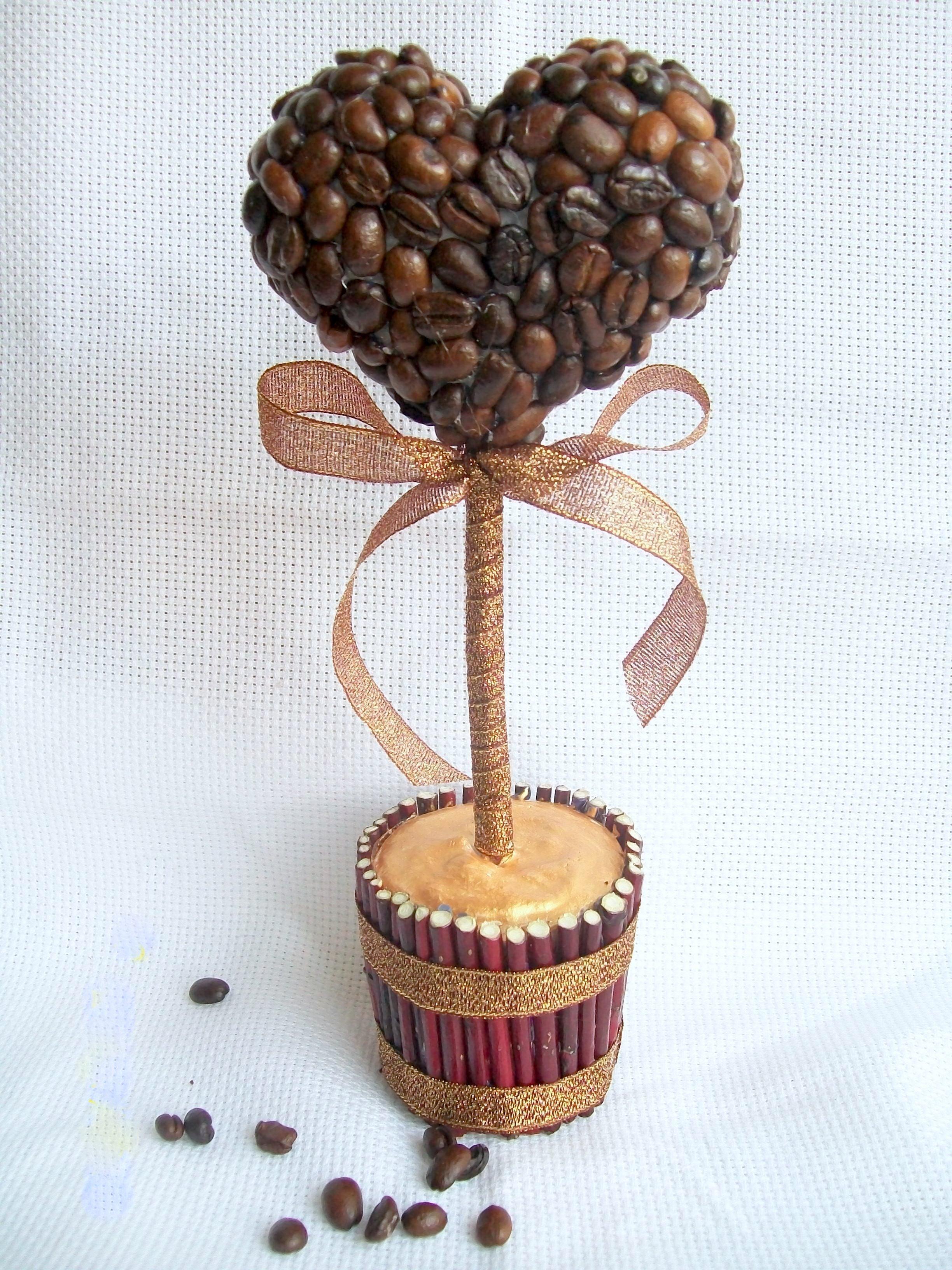 Поделки с кофейными зернами своими руками для начинающих