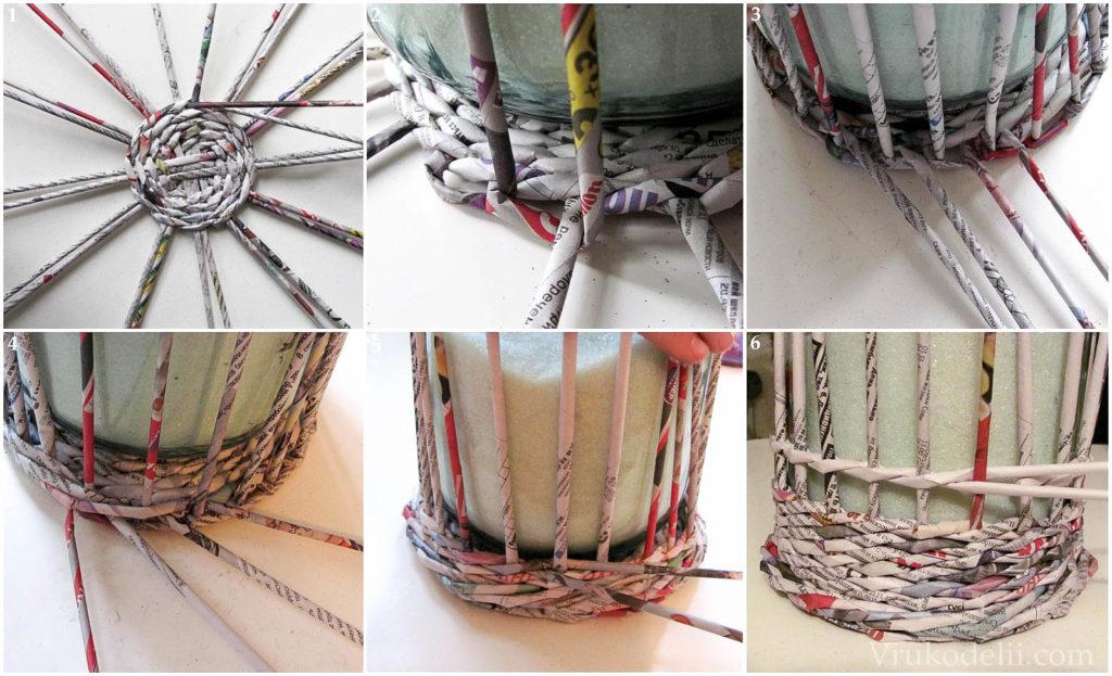 Плетение из газетных трубочек как сделать форму