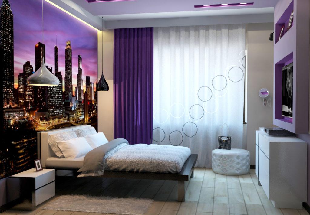 Интерьер маленькой комнаты в современном стиле фото