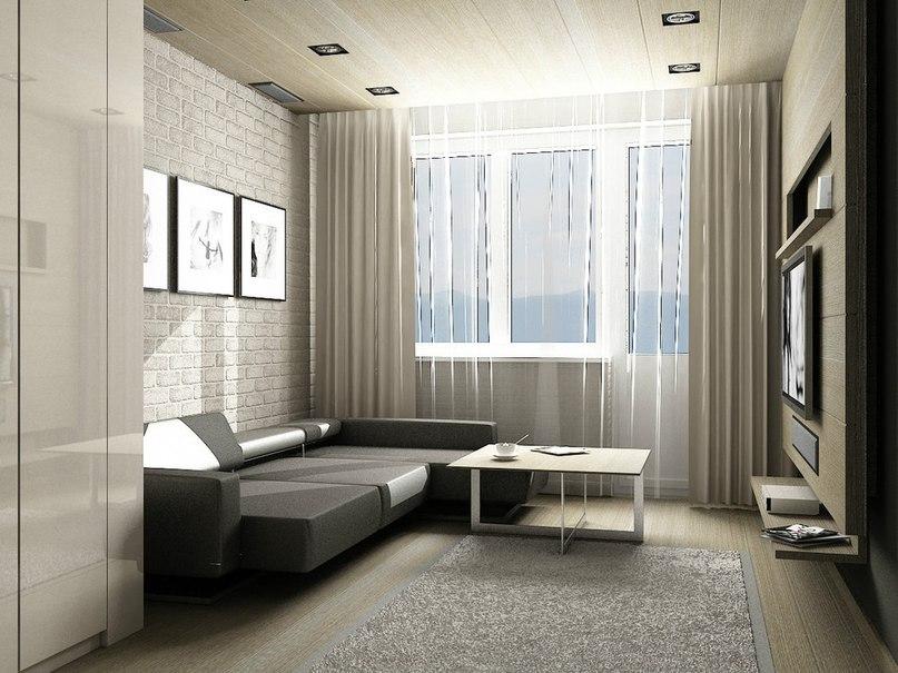 Дизайн комнаты в однокомнатной квартире 18 кв.м