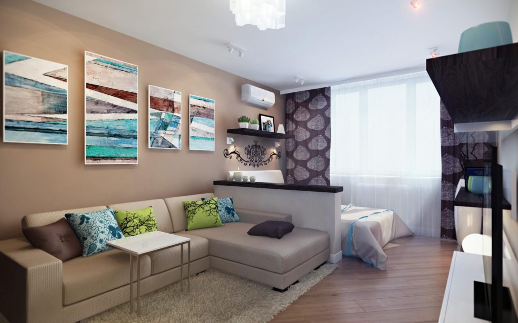 Фотографии дизайна однокомнатной квартиры