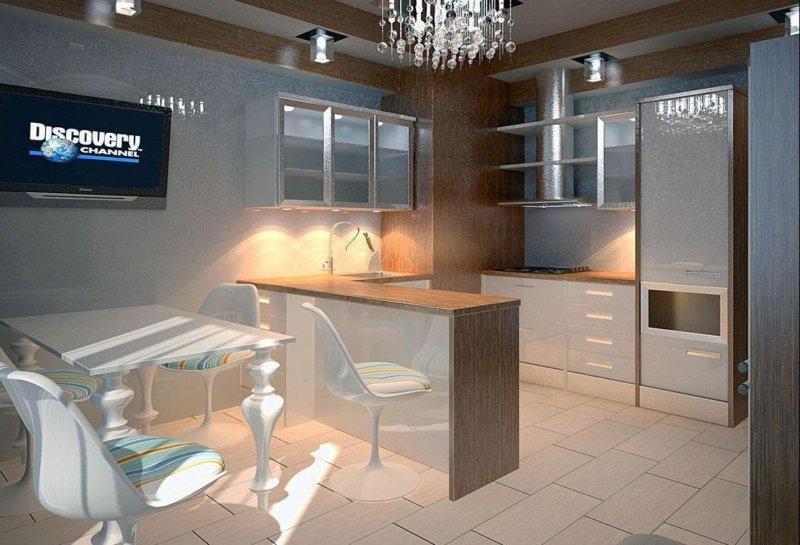 барная стойка на маленькой кухне 50 фото идей