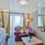 современный дизайн маленькой гостиной