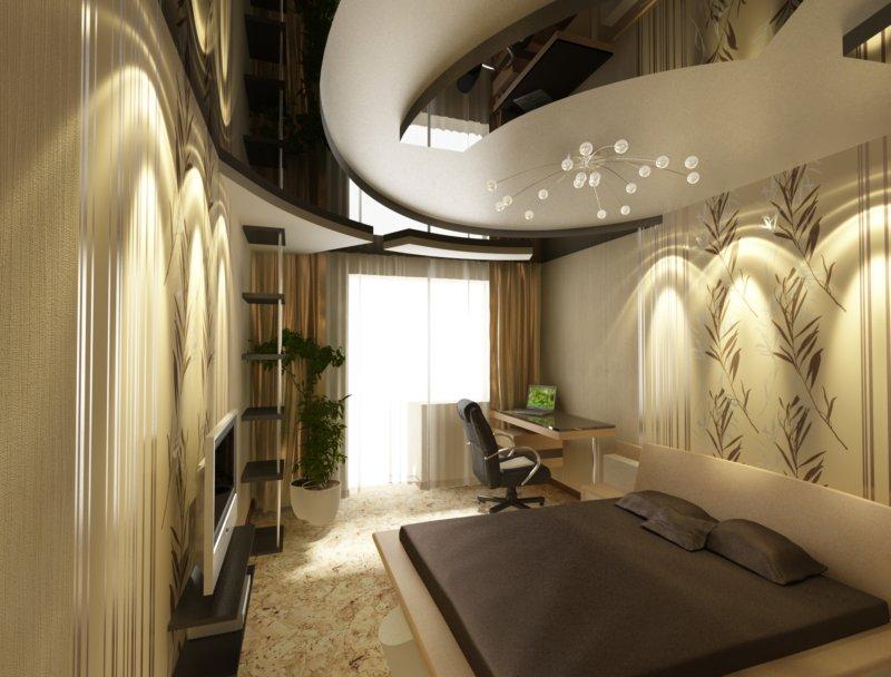 Дизайн низких потолков