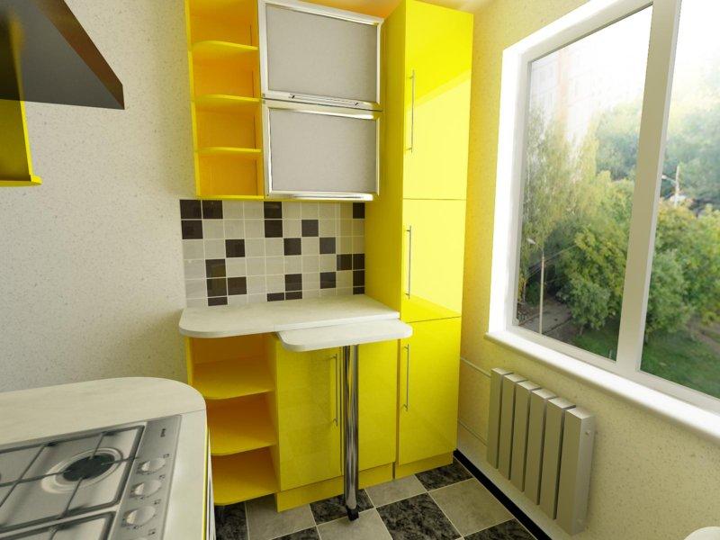 Дизайн малогабаритной кухни 5 кв.м фото