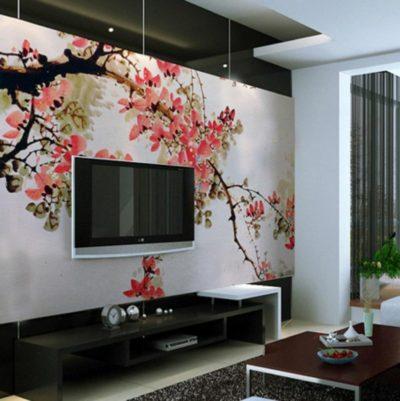Оформление стен в гостиной фото идеи и новинки 2020