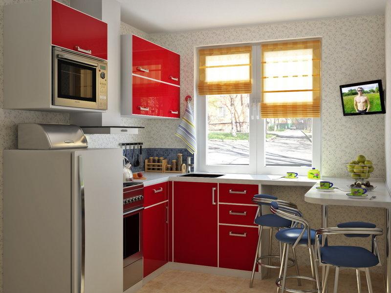 дизайн маленькой кухни 5 кв. м
