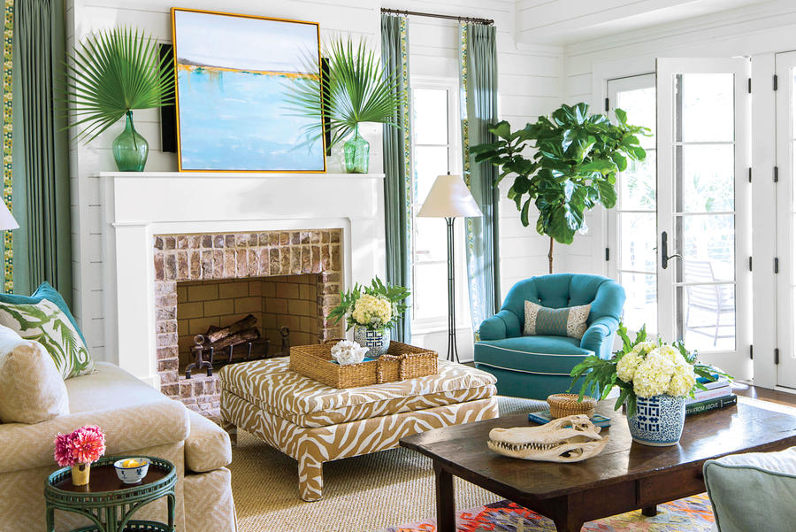 современный дизайн интерьера гостиной