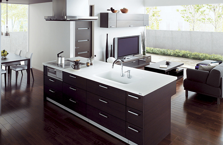 дизайн интерьера кухни совмещенной с гостиной фото