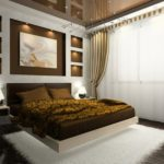 современный ремонт спальни