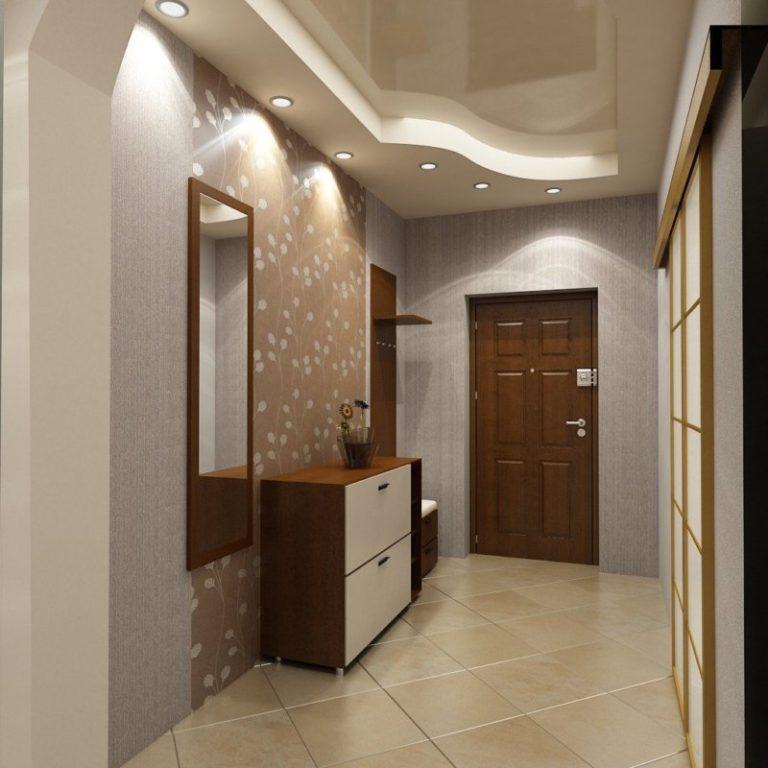Потолок коридора дизайна