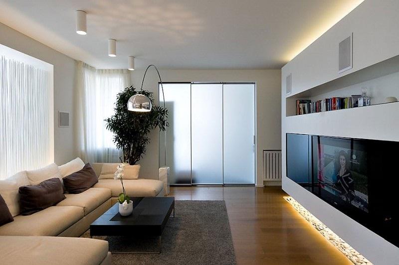 современные интерьеры зала фото