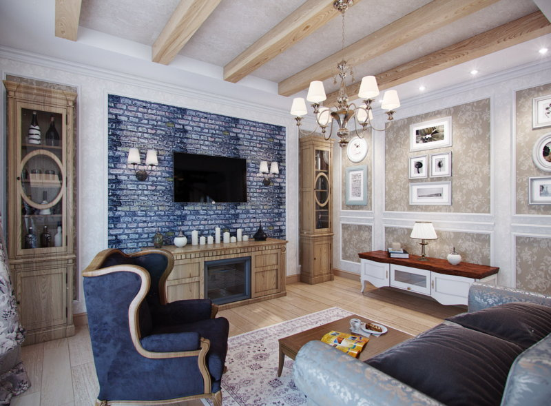 Provence style living room design