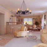 Дизайн гостиной в стиле прованс – вдохновение на фото