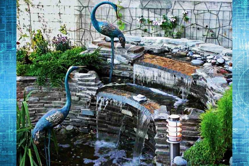 искусственный пруд на даче