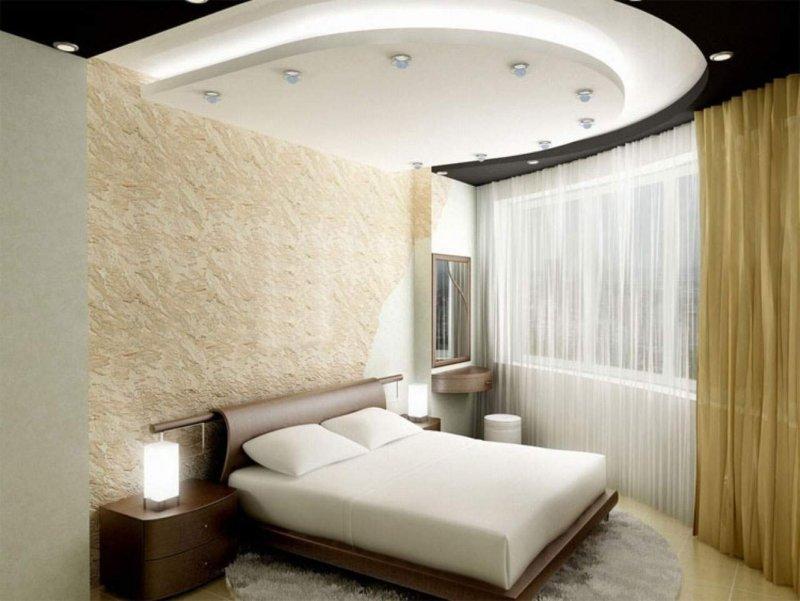 Ремонт своими руками потолок в спальне фото