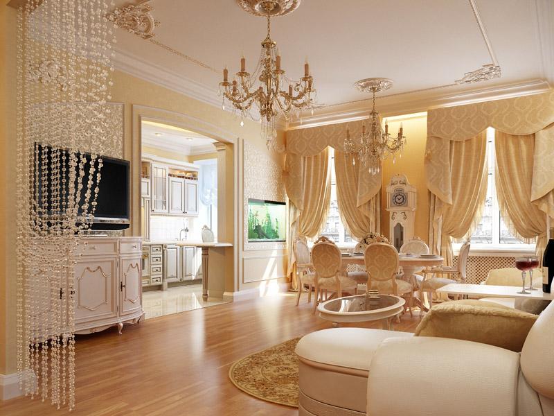 Идеи для зала в квартире фото классика