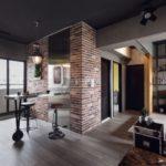 дизайн квартиры студии фото 2017 современные идеи