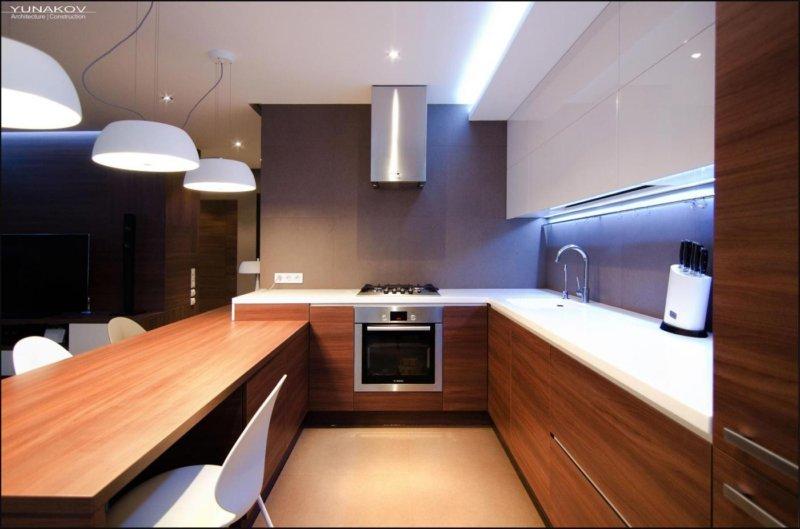 дизайн кухни в стиле минимализм