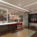 идеи современных гостиных совмещенных с кухней