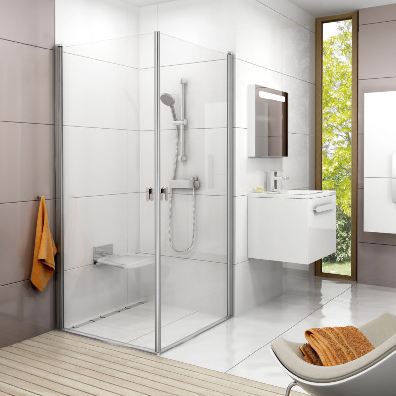 Современный дизайн ванной комнаты с душевой кабиной, видео и фото обзор