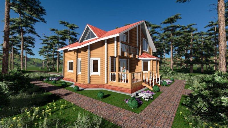 планировка одноэтажного дома с мансардой фото