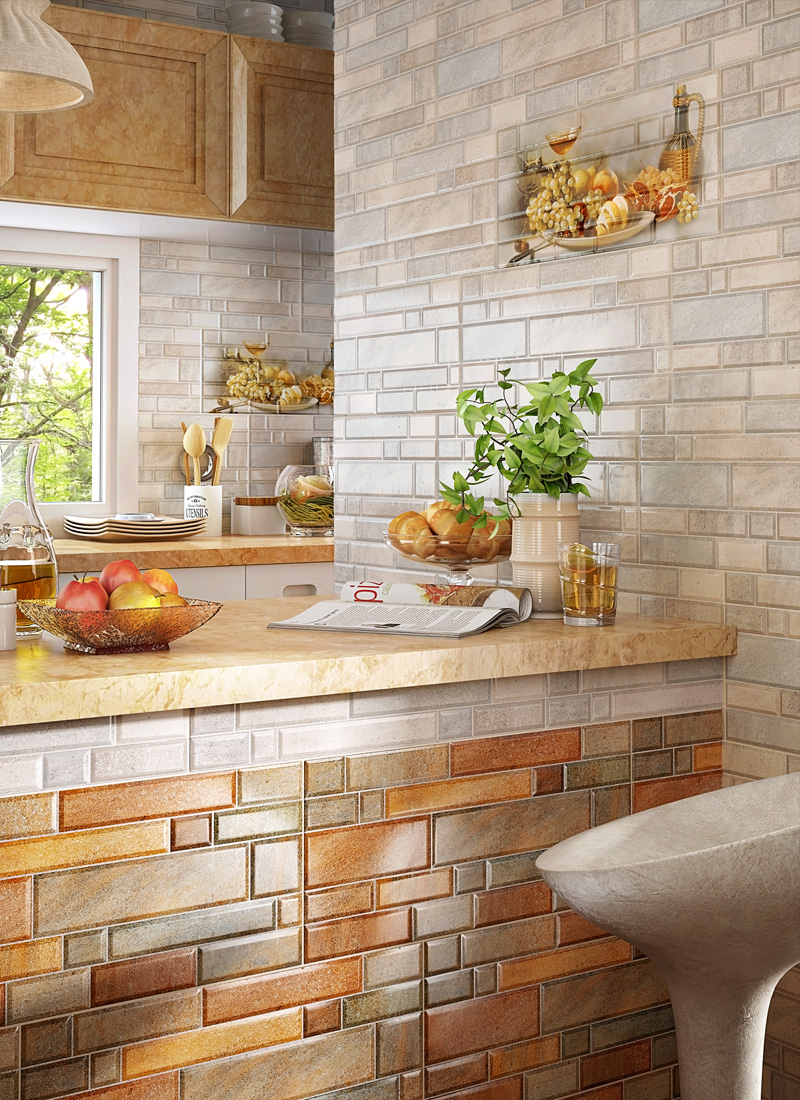 керамическая плитка для кухни на фартук фото