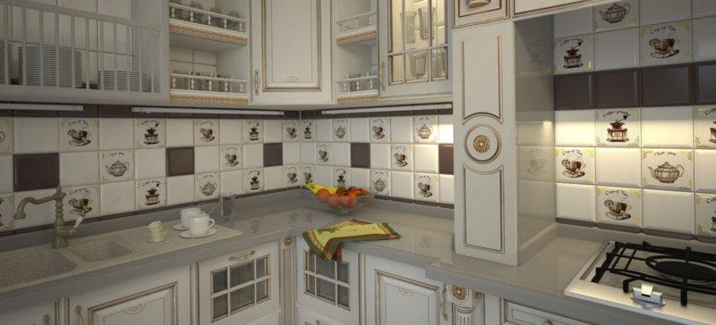 керамическая плитка мозаика для кухни