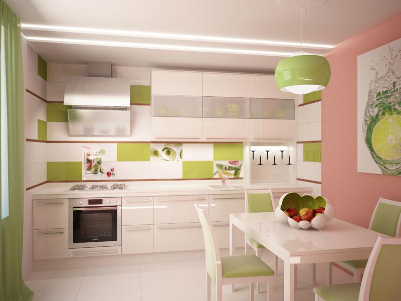 керамическая плитка на стены кухни