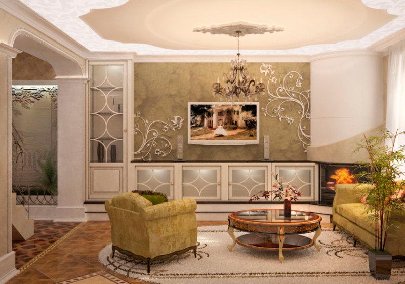дизайн светлой маленькой гостиной