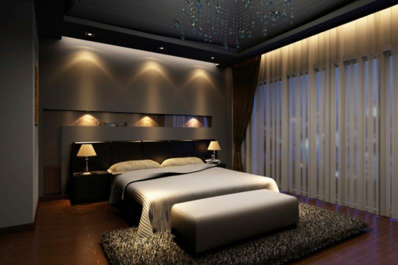 стильные спальни дизайн интерьера