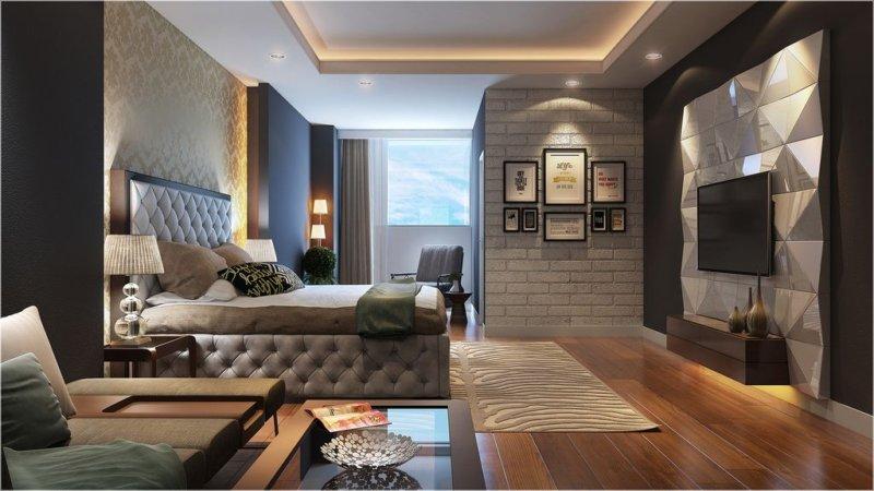 Дизайн интерьера спальни 2018
