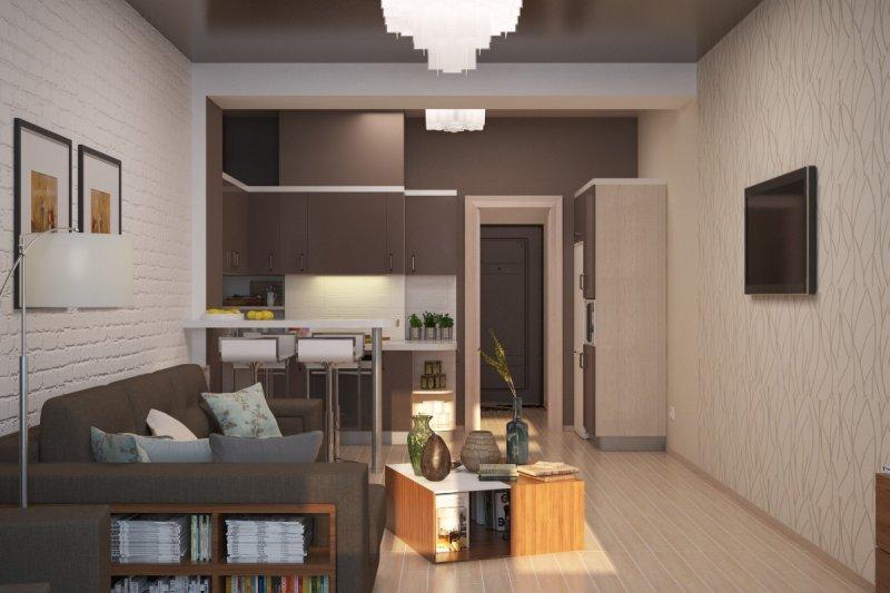 Красивые интерьеры маленьких квартир 65 фото идей