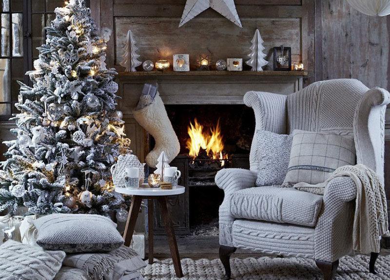 украсить дом на новый год фото