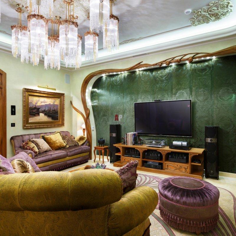 интерьер спальни в стиле модерн