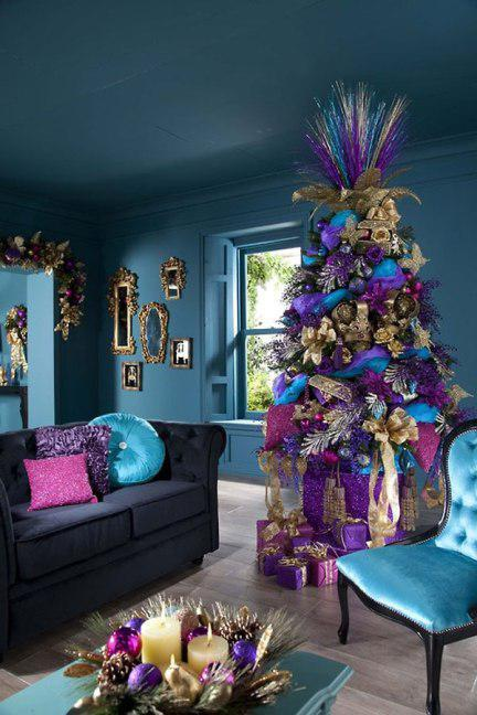 украсить дом к новому году гирляндами