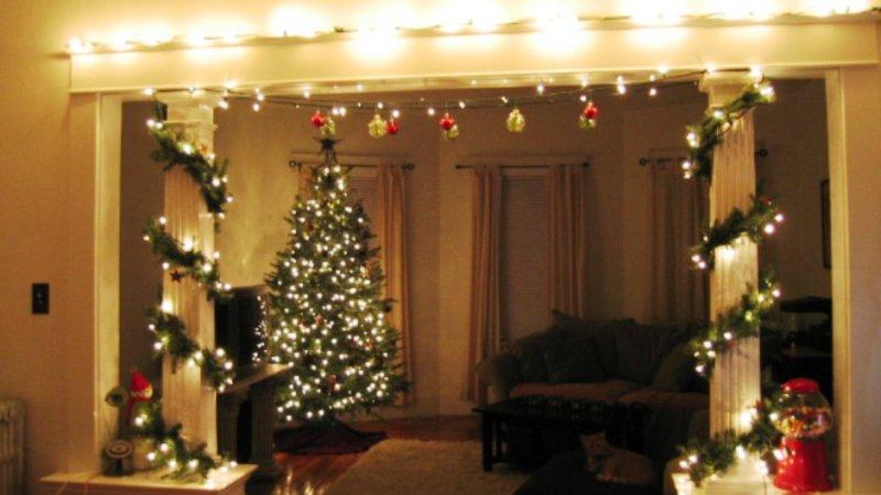 Новый год украшаем дом к празднику - 55 фото идей