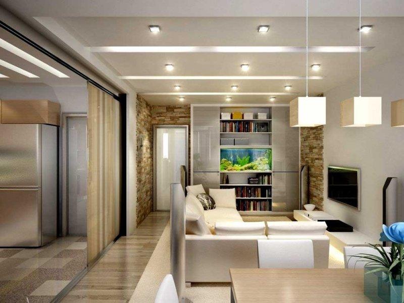 современный интерьер маленькой квартиры фото