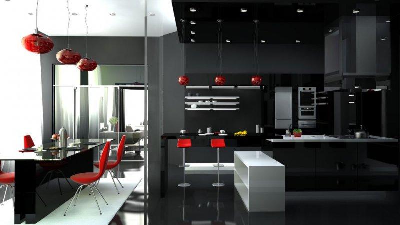 кухня хай тек бежевая