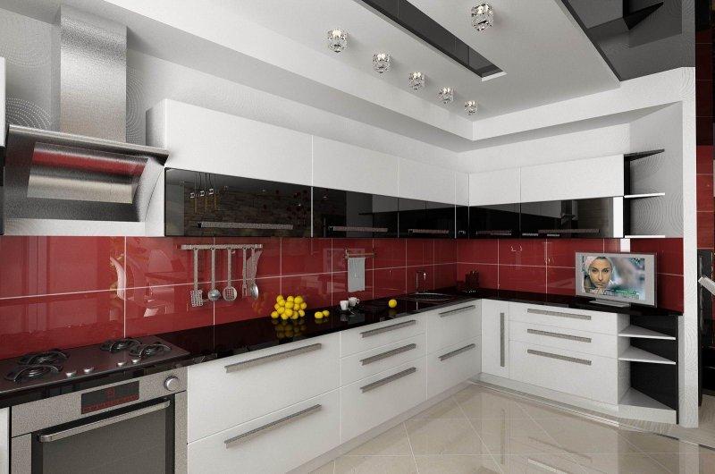 кухни в стиле хай тек фото