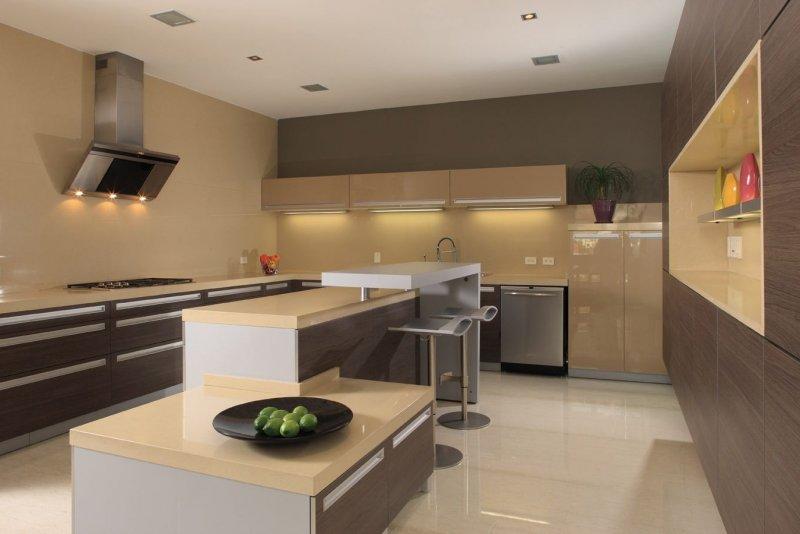 кухни хай тек фото дизайн 2018